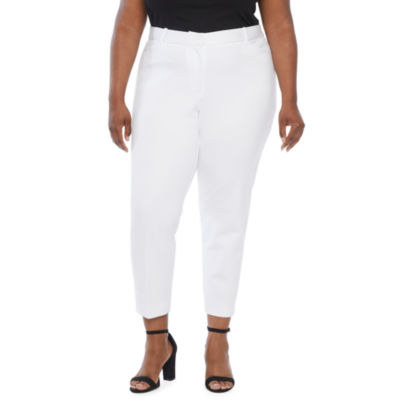 Liz Claiborne-Plus Womens Regular Fit Ankle Pant