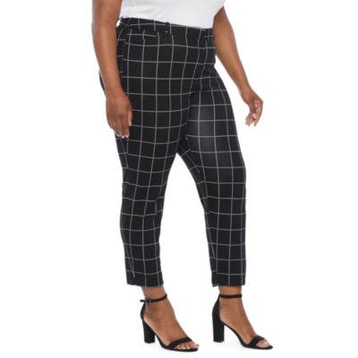 Liz Claiborne-Plus Womens Regular Fit Ankle Pant