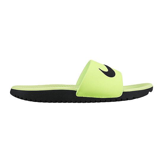 c365e128f24530 Nike Kawa Boys Slide Sandals