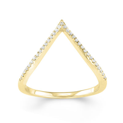 1/10 CT. T.W. Diamond 10K Yellow Gold Midi Ring