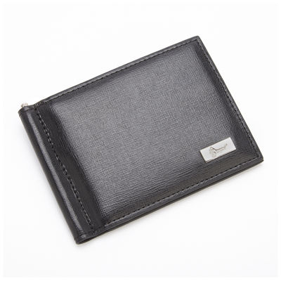Royce® Saffiano Leather Front Pocket Wallet