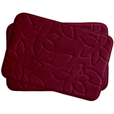 Bounce Comfort Blowing Leaves 2-pc. Memory Foam Bath Mat Set