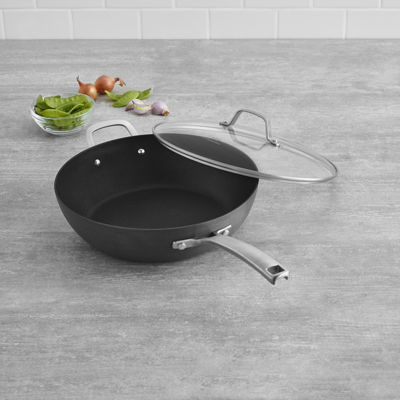 "Calphalon® Classic Hard-Anodized Nonstick 12"" Jumbo Fryer with Lid"