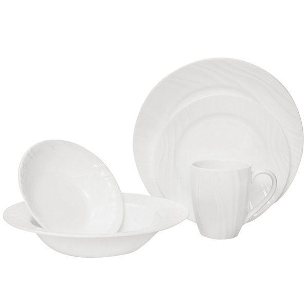 Corelle® Boutique™ Swept Wide-Rim 40-pc. Dinnerware Set - Service for 8
