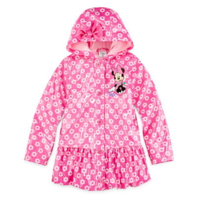 Disney Collection Pink Minnie Mouse Rain Coat – Girls