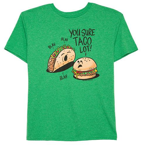 Boys Short Sleeve Oneliner Taco Lot  T-Shirt-Big Kid