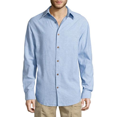 Island Shores Long Sleeve Button-Front Shirt