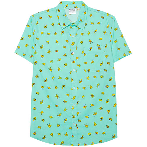 Novelty Season Pikachu Pattern Front Shirt