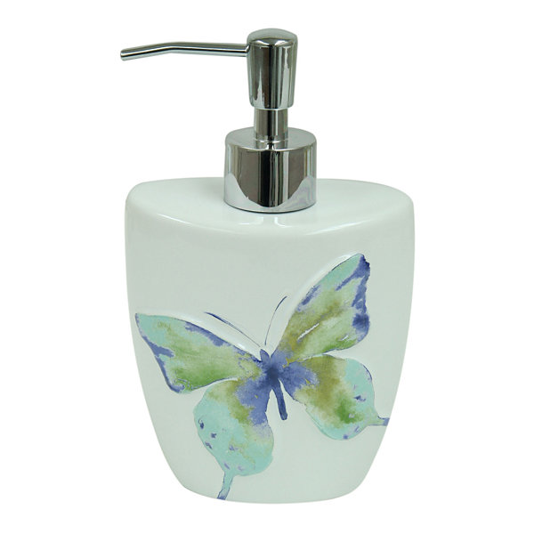 Bacova Guild Watercolor Garden Soap Dispenser