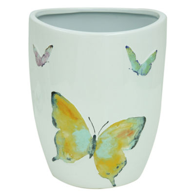 Bacova Guild Watercolor Garden Wastebasket