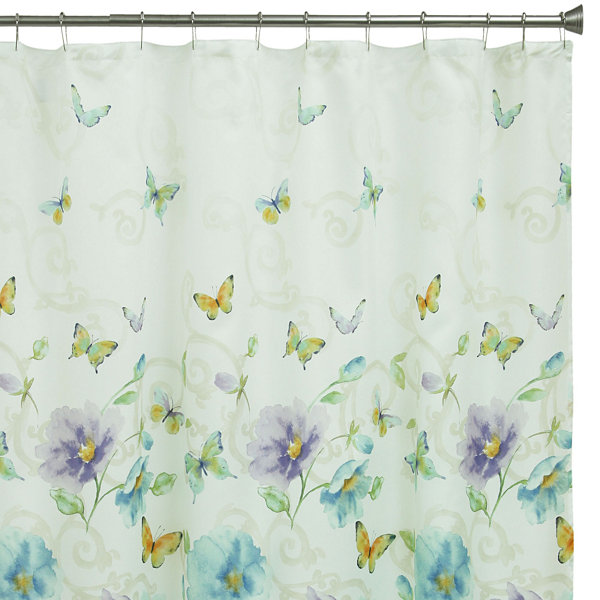 Bacova Guild Watercolor Garden Shower Curtain