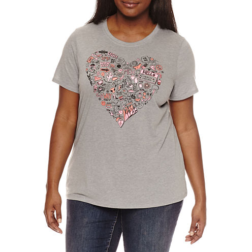 "Arizona ""Boy Bye"" or ""This is the real me"" or ""Sketch Heart"" Graphic T-Shirt- Juniors Plus"