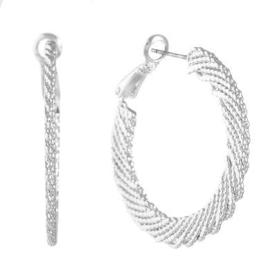 Gloria Vanderbilt Brass 35.7mm Hoop Earrings