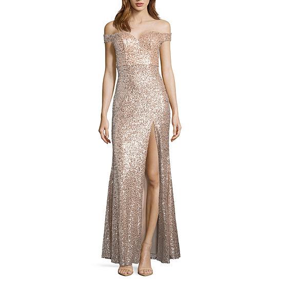Emarld Sundae Sleeveless Evening Gown-Juniors