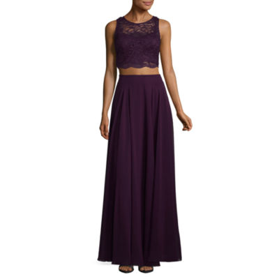 City Triangle Prom Sleeveless Evening Gown-Juniors