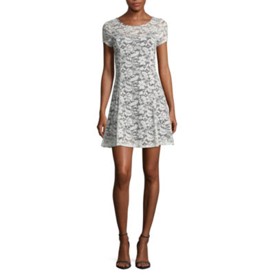 by&by Short Sleeve A-Line Dress-Juniors