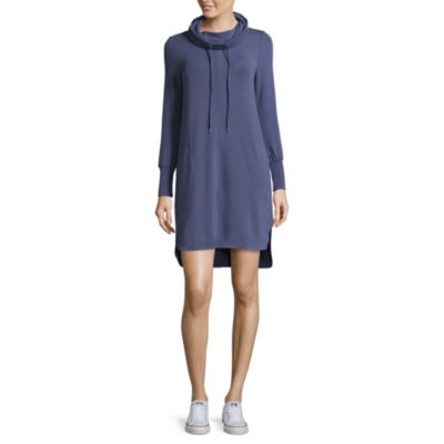 Spense Cowled Shirtail Dress