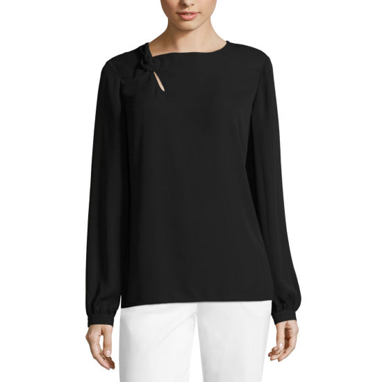 Worthington Neck Knot Blouse - Tall