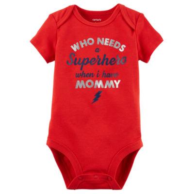 Carter's Slogan Short Sleeve Bodysuit - Baby NB-24M