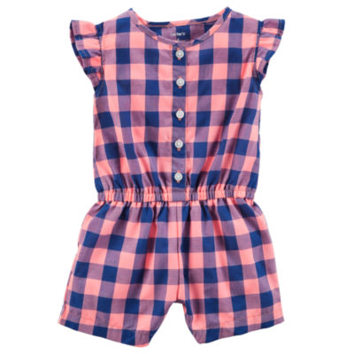 Carter's Short Sleeve Romper - Baby Girls