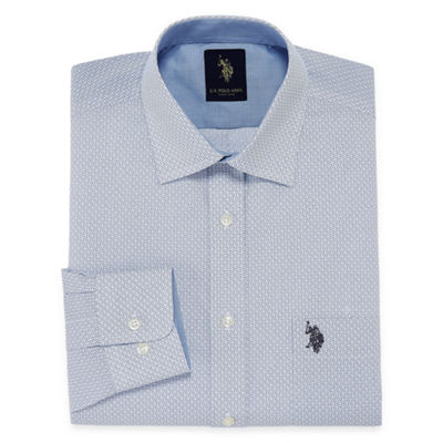 U.S. Polo Assn. Uspa Dress Shirt Long Sleeve Geometric Dress Shirt - Slim