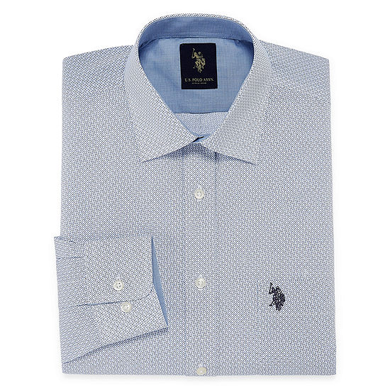 U.S. Polo Assn. - Slim Dress Shirt Mens Spread Collar Long Sleeve Dress Shirt