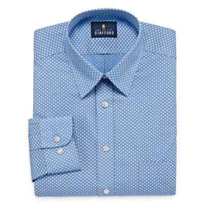 Stafford Travel Performance Super Shirt Long-Sleeve Broadcloth Dress Shirt