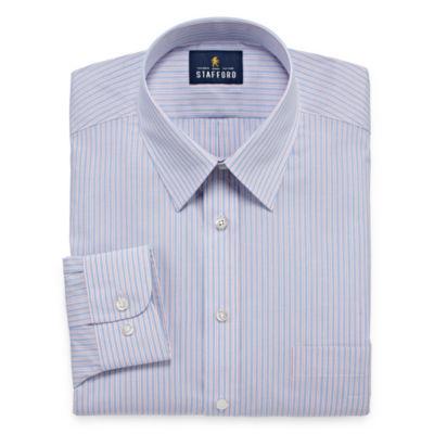 Stafford Travel Performance Super Shirt Long Sleeve Broadcloth Floral Dress Shirt- Big And Tall
