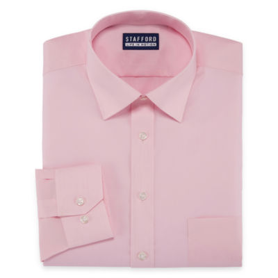 Stafford All Season Coolmax Big And Tall Long Sleeve Woven Dress Shirt
