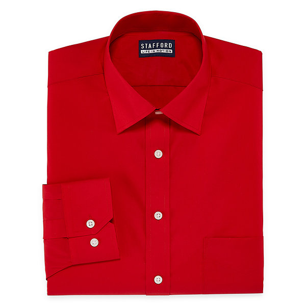 Stafford All Season Coolmax Long Sleeve Woven Dress Shirt