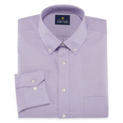 Stafford Executive Non-Iron Cotton Pinpoint Oxford Long Sleeve Dress Shirt- Big And Tall