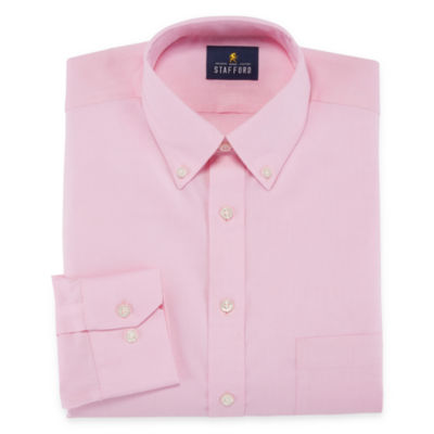 Stafford Executive Non-Iron Cotton Pinpoint Oxford Long Sleeve Dress Shirt - Big & Tall