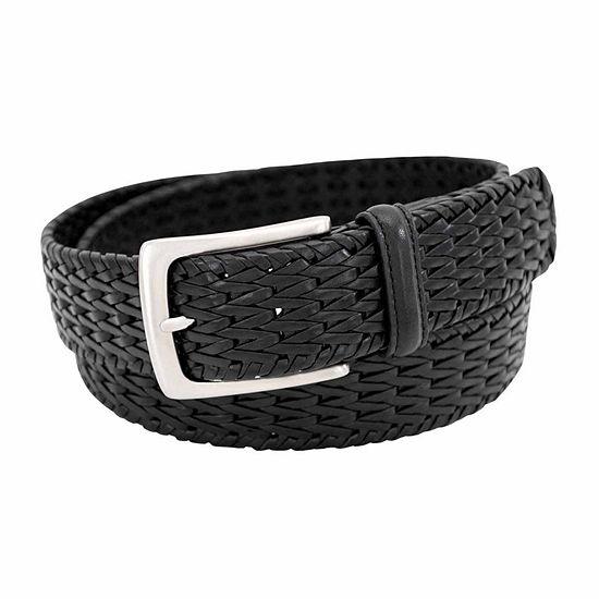 Florsheim® 34MM Woven Leather Belt