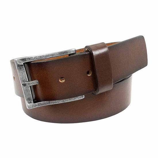 Florsheim® Burnished Saddle Leather Casual Belt