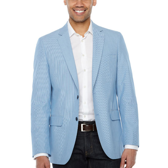 Stafford Classic Fit Woven Stripe Sport Coat