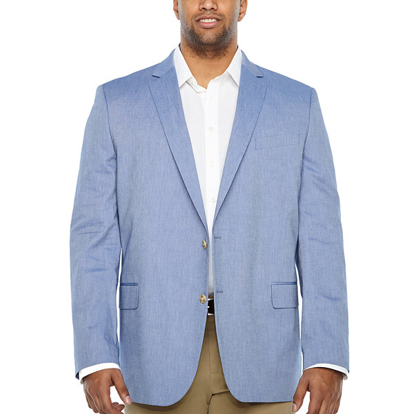 Stafford Classic Fit Woven Sport Coat - Big and Tall