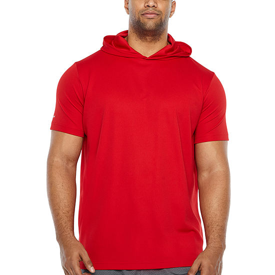 The Foundry Big Tall Supply Co Mens Short Sleeve Moisture Wicking Hoodie Big And Tall