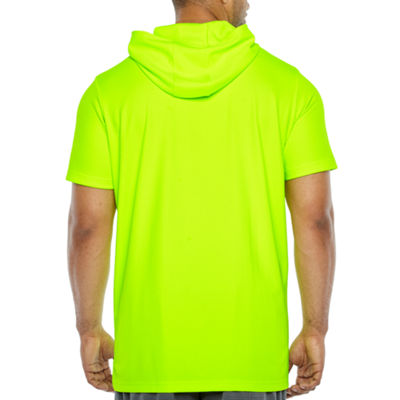 The Foundry Big & Tall Supply Co. Mens Short Sleeve Moisture Wicking Hoodie-Big and Tall
