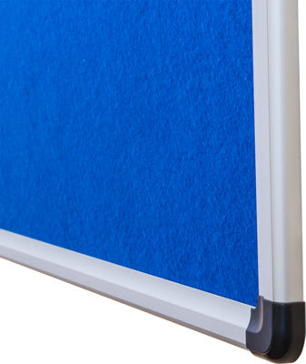 Viztex Fabric Bulletin Board with Aluminum Frame