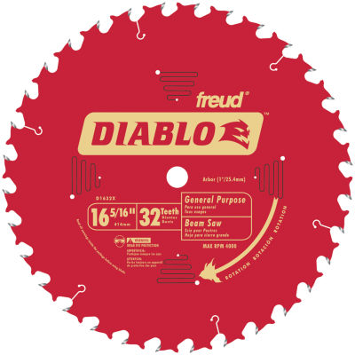 Diablo D1632X 16-5/6IN 32T Diablo General PurposeBeam Saw Blade
