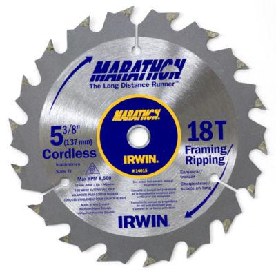 Irwin Marathon 14015 5-3/8IN 18T Marathon CordlessCircular Saw Blade