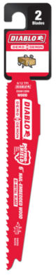 Diablo Ds0612Bw2 6IN 6/12 Tpi Wood Cutting Reciprocating Saw Blades 2 Count