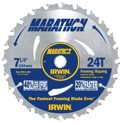 Irwin Marathon 24030 7-1/4IN 24T Marathon PortableCorded Circular Saw Blades