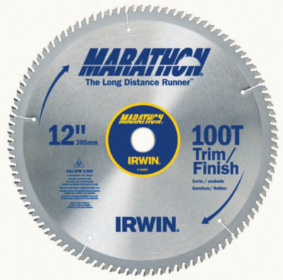 Irwin Marathon 14084 12IN 100T Marathon¨ Miter &Table Saw Blades