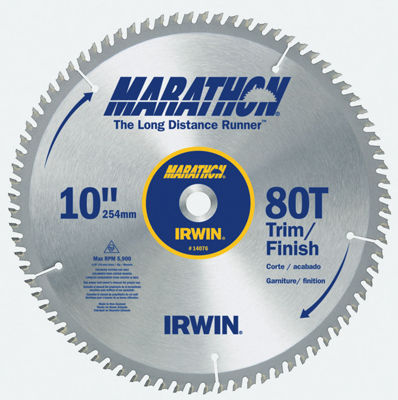"Irwin Marathon 14076 10"" 80T Marathon¨ Miter & Table Saw Blades"""