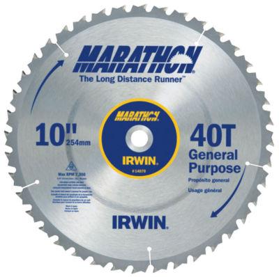 Irwin Marathon 14070 10IN 40T Marathon Miter & Table Saw Blades
