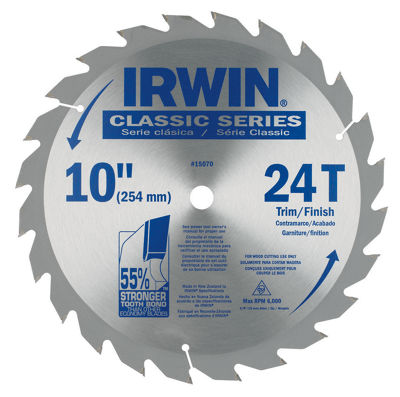 Irwin 15070 10IN 24 Tooth Circular Saw Blade
