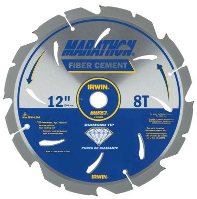 Irwin Marathon 4935625 12IN 8T Marathon Fiber Cement Circular Saw Blade