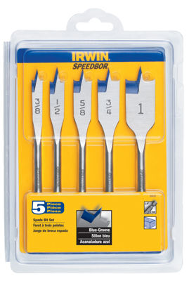 Irwin 88885 Speedbor Blue Groove Set 5 Count
