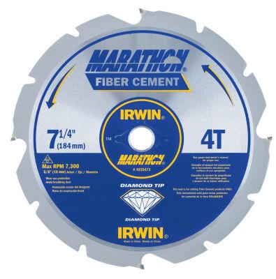 Irwin Marathon 4935473 7-1/4IN 4T Marathon FiberCement Circular Saw Blade